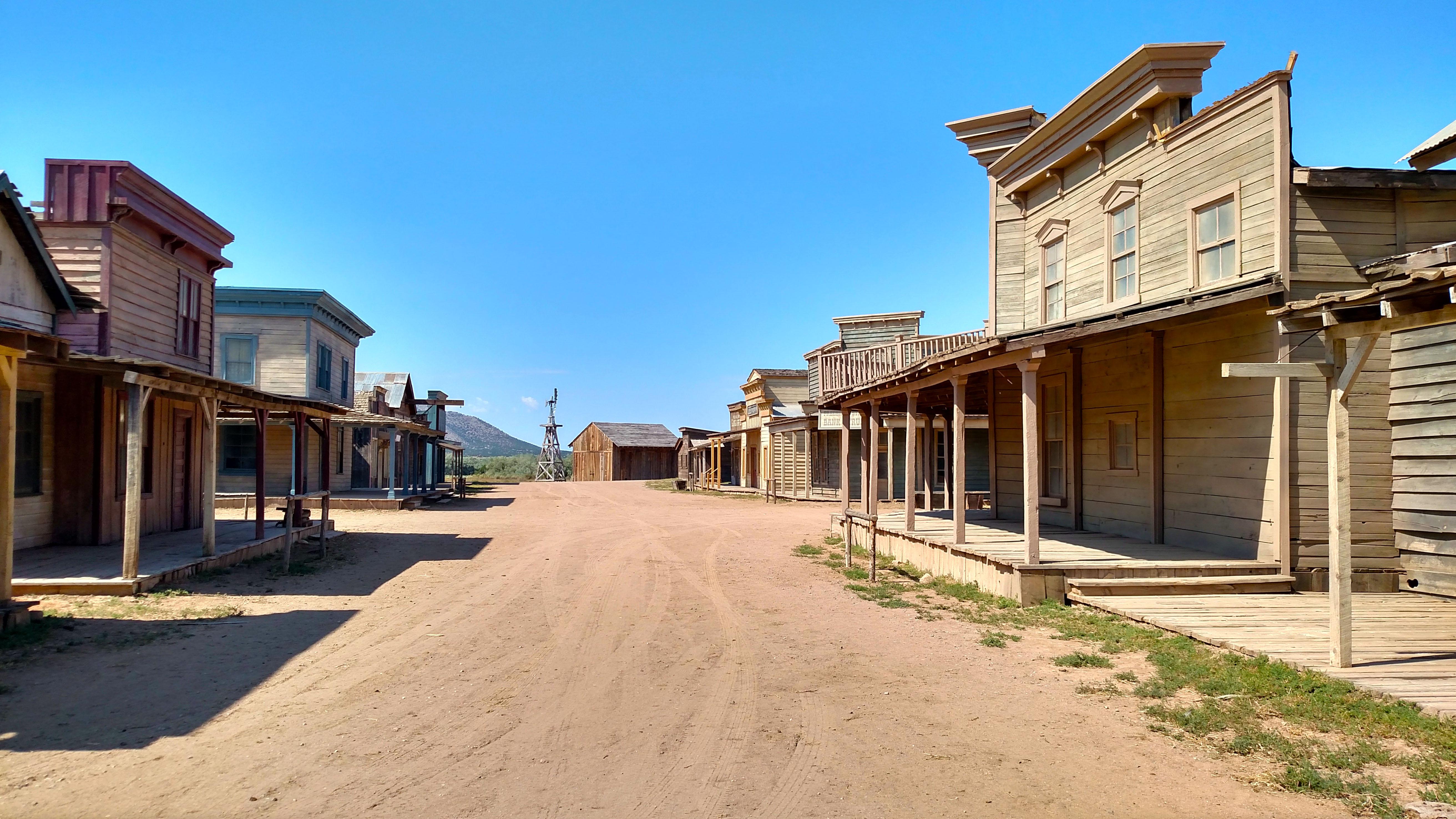 Old western movie settler